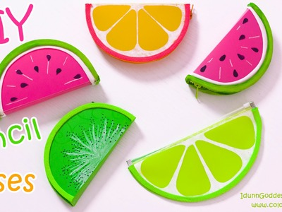 DIY Pencil Cases FRUITS (Watermelon, Lemon, Kiwifruit) – NO SEW DIY School Supplies