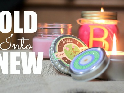 DIY Recycled Candles - GORGEOUS gift Idea !