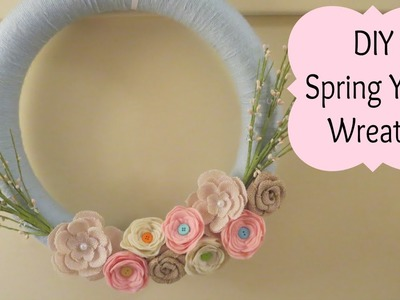 DIY Spring Yarn Wreath! | MayMommy2011