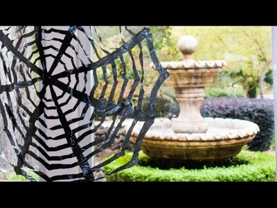 DIY Trash Bag Spiderwebs