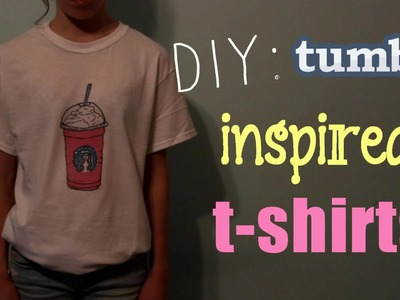 DIY: Tumblr Inspired T-Shirts!