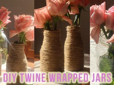DIY Twine Jars! Rustic Wedding Centerpieces