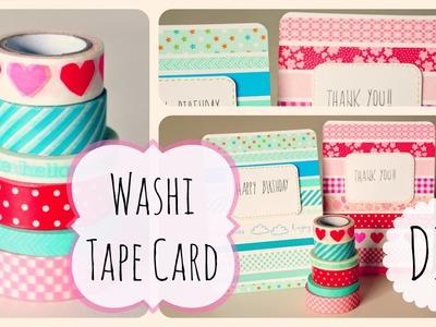DIY Washi Tape card