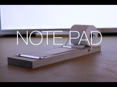 ⇒ DIY Wood and Aluminum Note Pad