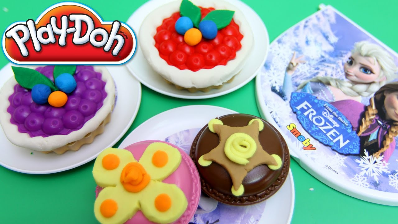 FROZEN Picnic Basket Playset Play Doh Lollipops Cake Dessert DIY Play-Doh Creations