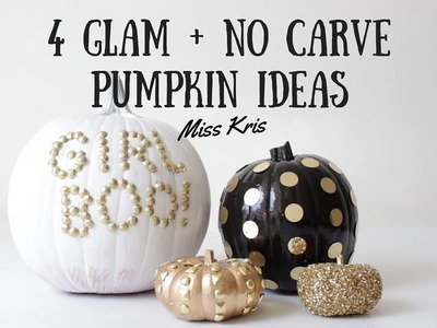 HALLOWEEN PUMPKIN INSPO: 4 Easy, No Carve DIY Projects
