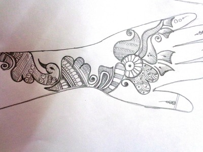 How To Draw A Mehndi.Henna Design On Paper - S29