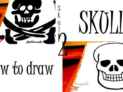 How to draw a Skull and a Pirate SKULL Easy for Beginners and Kids with pencil | SPEED ART