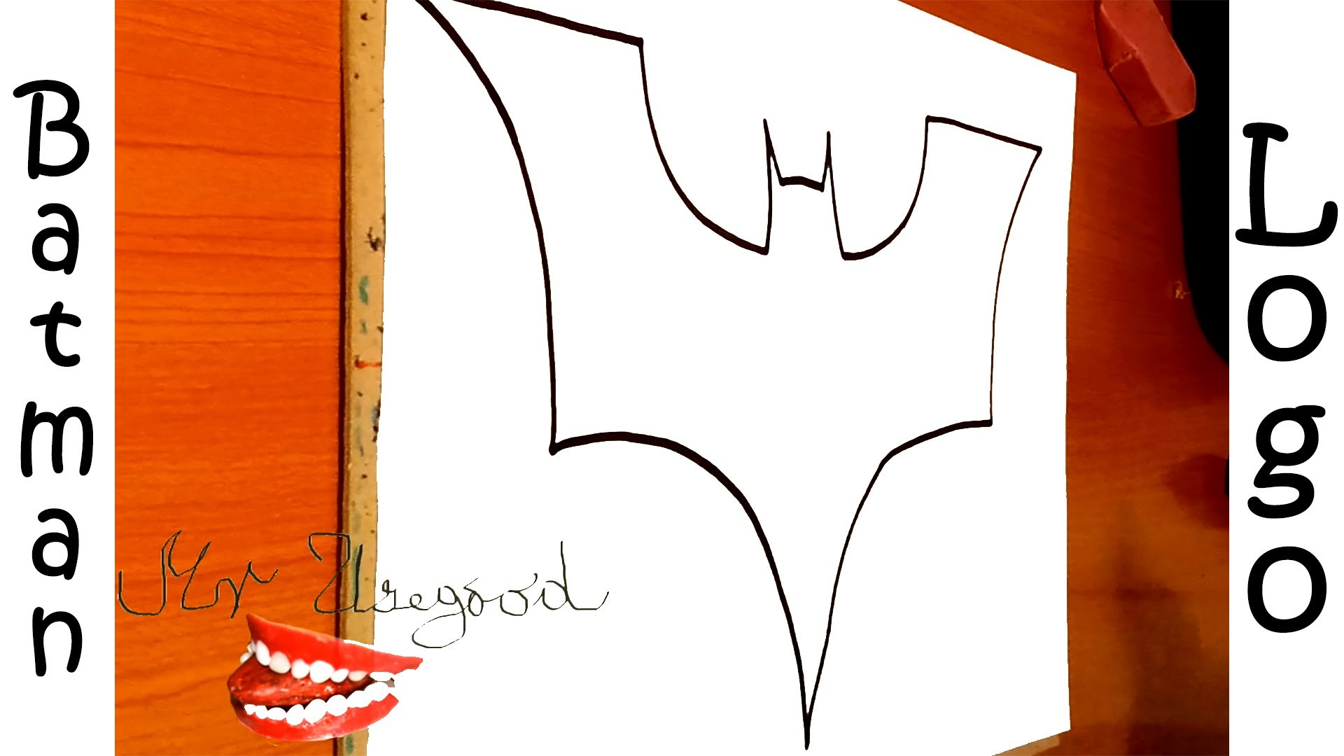 How to draw batman logo step by step easy draw easy stuff for Stuff to draw