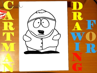 How to draw ERIC CARTMAN from SOUTH PARK characters Easy,draw easy stuff but cool SPEED ART