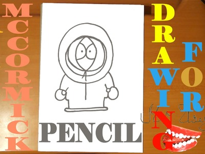 How to draw KENNY MCCORMICK from SOUTH PARK characters Easy,draw easy stuff,PENCIL,SPEED ART