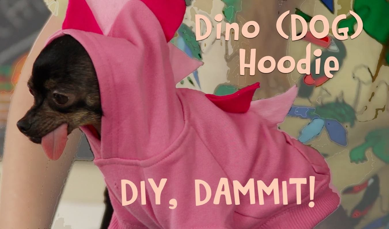 HOW TO MAKE A DINO HOODIE WITH BEANZ AND MAMRIE HART -- DIY, DAMMIT!