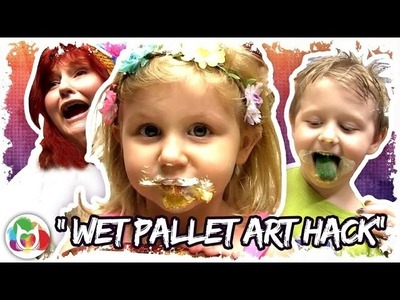How to make a DIY WET PALLET save your acrylic paint and save money