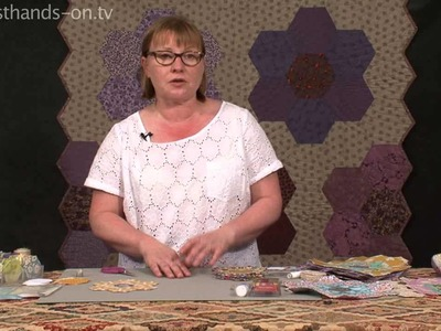 Paper Pieced Hexagon Patchwork with Carolyn Forster
