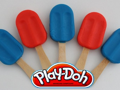 Play-Doh Popsicles DIY Ice Cream with Toys Surprise