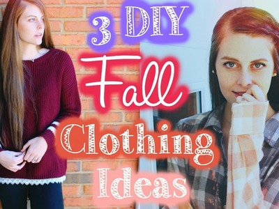 3 Easy DIY Fall Clothing Ideas!