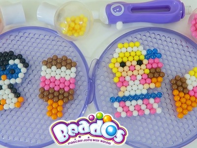 Beados Ice Cream Treats GLITTER Beads Playset | Easy DIY Make Your Own Magic Sparkly Beads!
