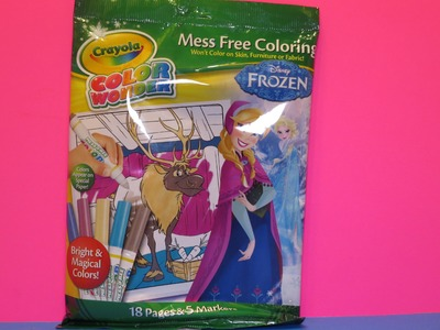 Crayola Color Wonder Markers and Paper - Frozen, Anna, Elsa,Mess Free By WD Toys