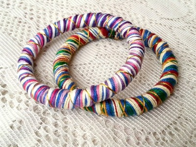 Create Colorful Thread Wrapped Bangles - DIY  - Guidecentral