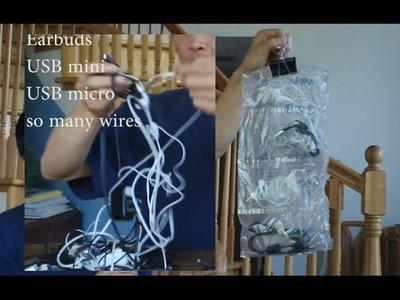 DIY: Best Way to Organize Earbuds, Chargers and All Those Miscellaneous Wires