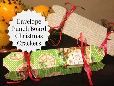 DIY Christmas Crackers Using The WRMK Envelope Punch Board