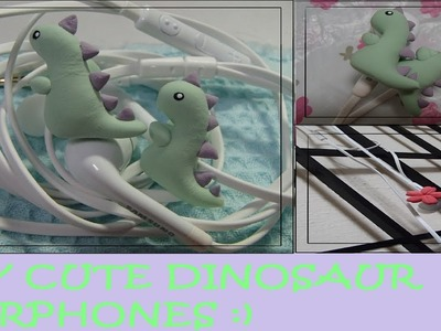 DIY CUTE DINOSAUR EARPHONES
