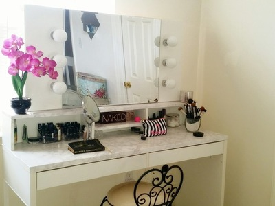 DIY Hollywood Vanity with Lights. Vanity Girl Inspired