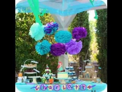 DIY Little mermaid party decorating ideas