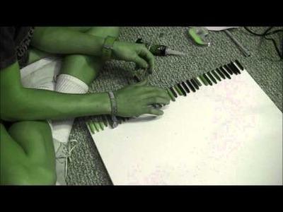 DIY | Melting Crayon Art (Adventure Time version)