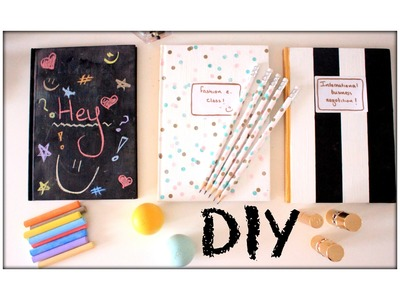 DIY: Notebooks and pencils (confetti, blackboard and striped)