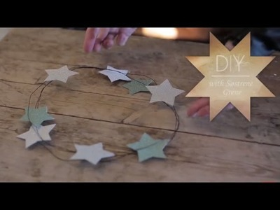 DIY: Star wreath decoration by Søstrene Grene