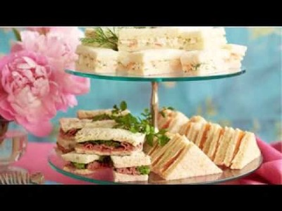 DIY Tea party food decorating ideas