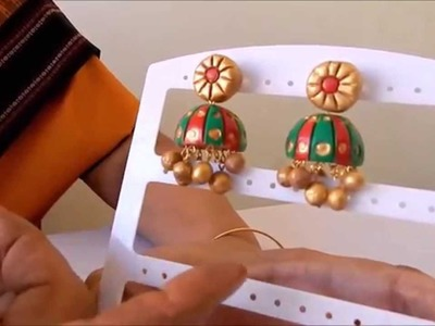 DIY: Terracotta Jewellery how to make Jumka earring part 2