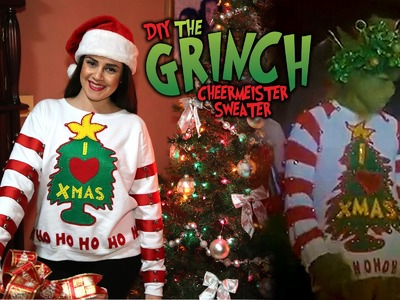 DIY The Grinch Holiday Cheermeister Sweater || Lucykiins