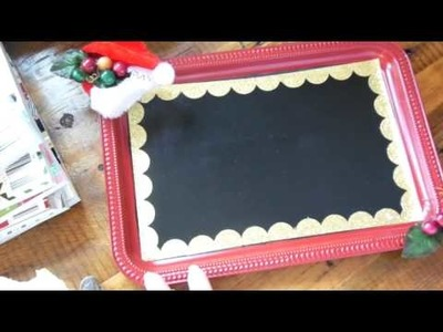 Dollar Tree Craft: Magnet Chalkboard from $1 Tray