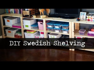 Easy DIY Inexpensive Wood Shelving