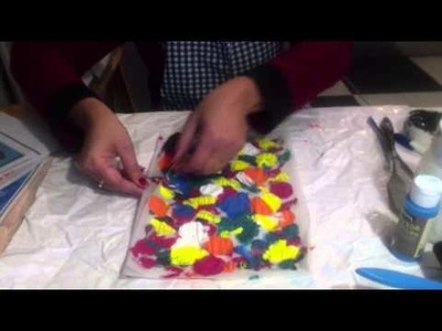 How to make a painting with coloured tracing paper for BEGINNERS