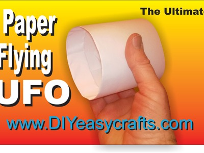 How to make flying paper UFO plane