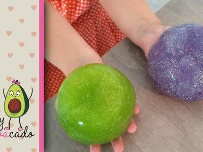 How to Make Glitter Slime! Easy DIY glitter goo! Not as messy as other slime :)