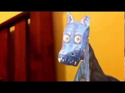 Paper Dragon Moving Head Illusion