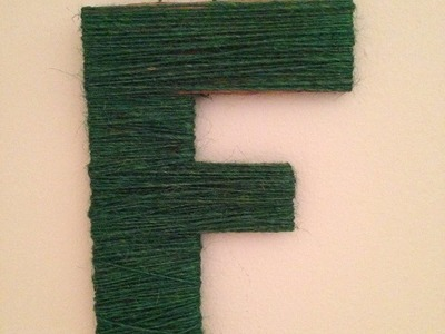 Really Easy DIY Decoration - Twine Wrapped Letter
