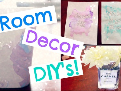 Room.Dorm Decor DIY's! | Watercolor Inspired