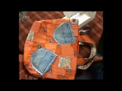 Sew of denim (jean cloth) handy bags and fashion accessories. Diy. Handmade