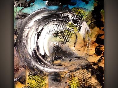 Abstract Art Painting techniques on Canvas www.PetesOriginalArt.com