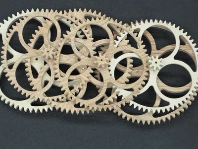 Comparison Of Completed Clock Wheels - Plywood & Segmented Wood