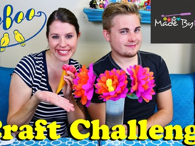CRAFT CHALLENGE Made By Mommy Eeboo DIY Ice Cream Cone & Paper Flowers Decorations by DisneyCarToys