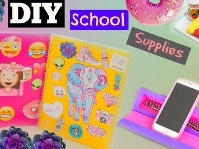 DIY Back To School Supplies 2015 + Tumblr Notebooks