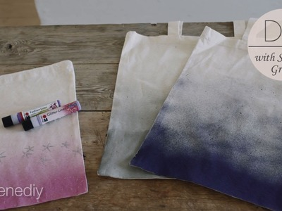 DIY: Canvas tote bag with spray paint effect by Søstrene Grene