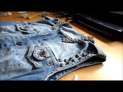 DIY FASHION: COMO MODIFICAR UN CHALECO CON TACHUELAS Y STRASS