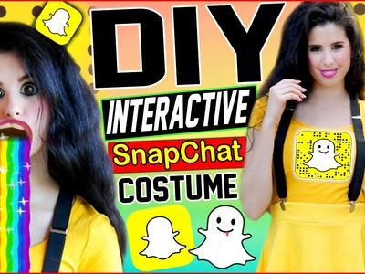 DIY Interactive Snapchat Costume! | Be The Snapchat App! | Puking Rainbow Prop! | Snapchat Shoes!
